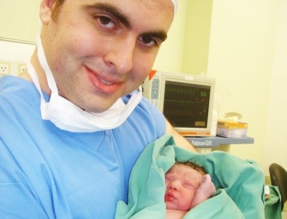 Gustavo e a filha Catarina