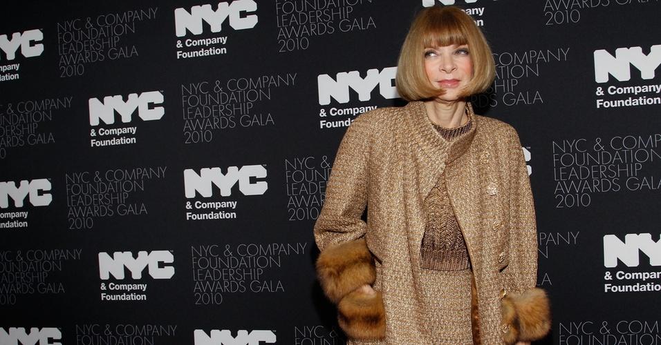 Anna Wintour durante evento em Nova York (01/12/2010)