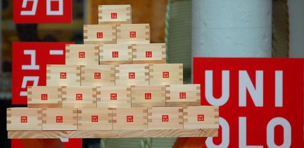 Interior da loja conceito da Uniqlo, em Nova York, durante abertura em 2006 - Getty Images