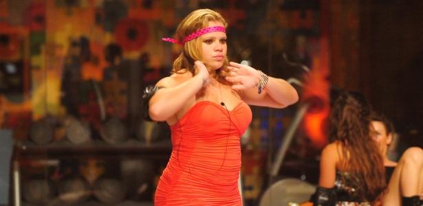 A eliminada Paula, em uma das festas promovidas pelo BBB11 - Divulgação