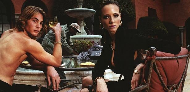 O modelo Eric Zentner em campanha da Versace - Divulgação