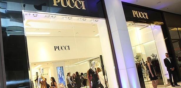Fachada da loja da primeira loja da Pucci no Brasil, inaugurada nesta quarta (13) no Shopping Cidade Jardim de SP - Divulgação