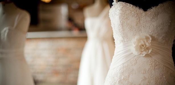 """Vestidos de noiva expostos na quinta edição do evento """"Quer Casar Com Estilo"""", em São Paulo - Divulgação"""