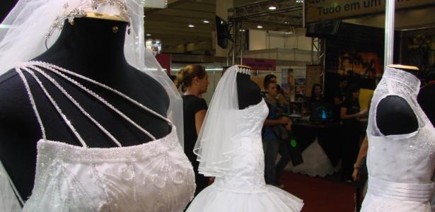 Vestidos de noiva expostos na Expo Noivas & Festas; nova edição da feira acontece entre 28 de abril e 1º de maio em São Paulo - Divulgação