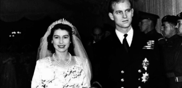 Casamento da Rainha Elizabeth 2ª com o príncipe Philip da Grécia em novembro de 1947