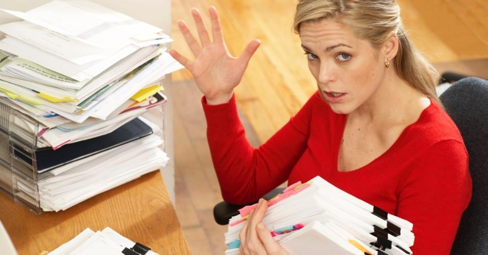 escritório, estresse, bagunça, carreira
