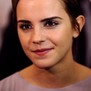 A atriz Emma Watson que recentemente expressou o desejo de criar uma linha de produtos eco-friendly em parceria com a Lancôme