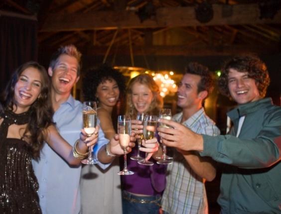 festa, diversão, brinde