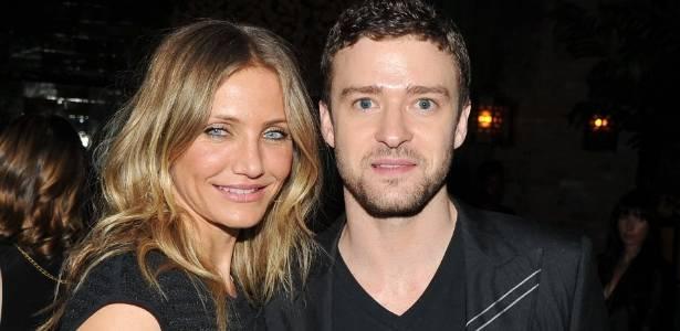 """Cameron Diaz e seu ex Justin Timberlake, durante estreia do filme """"Professora Sem Classe"""" (20/6/11) - AFP"""