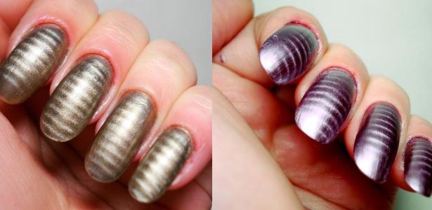 Esmaltes da coleção Magnetic da marca Sancion Angel: ondulações aparecem após aproximar um imã ao esmalte ainda molhado  - Divulgação