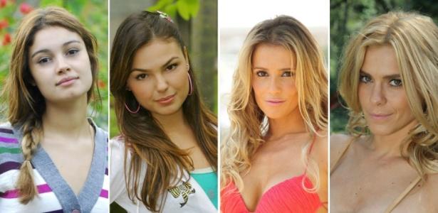 As personagens Stéfany (Sophie Charlotte), Rakelli (Isis Valverde), Natalie (Deborah Secco) e Teodora (Carolina Dieckmann) têm muito a ensinar - Divulgação/TV Globo