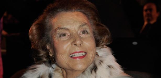 "Liliane Bettencourt durante o evento Unesco e L""Oréal Awards (05.03.20096) - Getty Images"