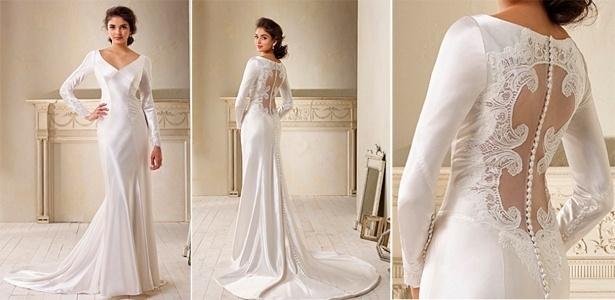 """A réplica do vestido de noiva usado por Kristen Stewart em """"Amanhecer"""" custa R$ 1.450, da marca Alfred Angelo"""