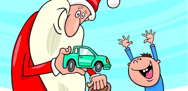 """A famosa frase """"Você se comportou bem este ano?"""" não deveria servir de intimidação para os pequenos - Thinkstock"""