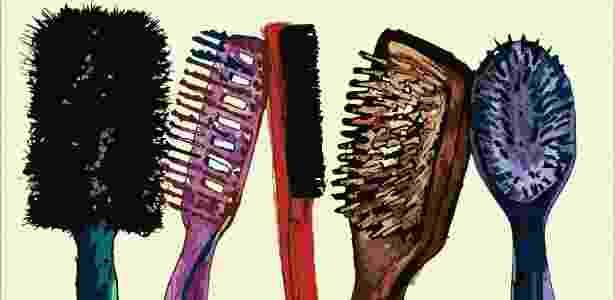 No mercado há inúmeros modelos de escovas; você sabe como escolher o tipo ideal para seus fios? - Julia Guglielmetti/UOL