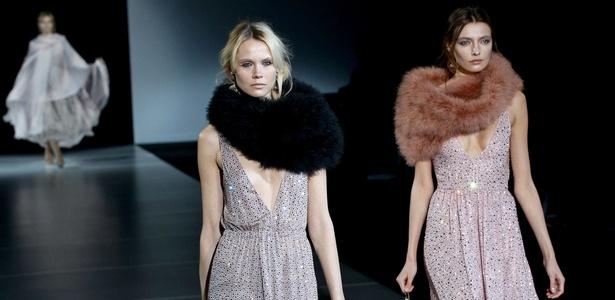 Giorgio Armani apresenta coleção de alta costura durante semana de moda de Milão - Getty Images