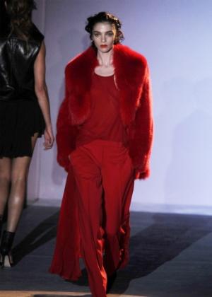 Look do Inverno 2012 da Hakaan, grife inglesa que cancelou seu desfile em Paris após perder a coleção que apresentaria na semana de moda - Antonio Barros/UOL