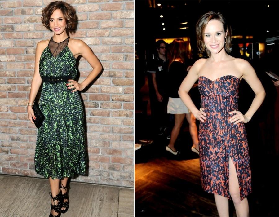 Camila Pitanga e Mariana Ximenes com looks de Andrea Marques, que renderam título de