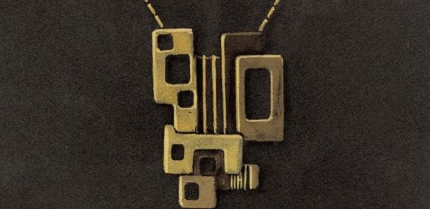 Desenho de pingente criado pelo artista Roberto Burle Marx, exposto na mostra promovida pela H. Stern, até o dia 15 de maio no Shopping Iguatemi - Divulgação