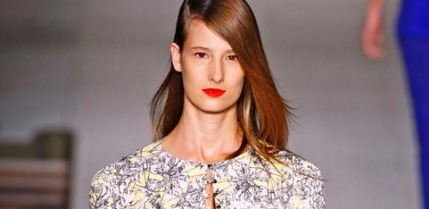 Modelo desfila look da Maria Bonita Extra, uma das marcas favoritas da imprensa internacional no Rio