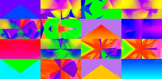 """Estampa """"Portal"""", criada pelo artista Rick Castro, inspirada em seu vídeo """"Transcrimopassagem"""" - Divulgação"""