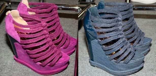 Sandálias com plataformas de 16 centímetros quase derrubaram modelos nas passarelas - Julia Guglielmetti/UOL