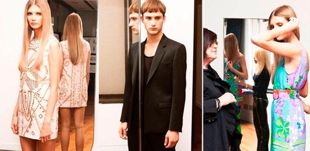 A coleção da Versace para a H&M contará com peças de couro, muitos rebites e estamparia colorida para as mulheres e alfaiataria para os homens