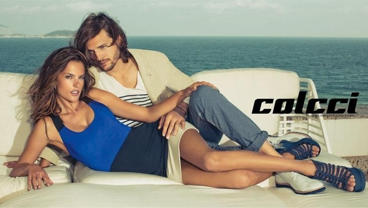 Julho 2011: A Colcci escolhe pela segunda vez o astro hollywoodiano Ashton Kutcher e a top Alessandra Ambrósio, para a campanha da marca. As fotos foram feitas por Jacques Deckequer e a beleza foi por conta de Max Weber