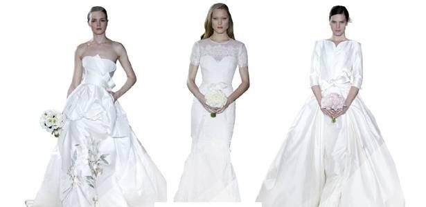 Vestidos da linha de noivas de Carolina Herrera - Divulgação
