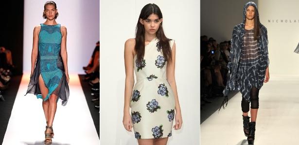 Looks de BCBGMaxAzria, Porter Grey e Nicholas K para o Verão 2012, mostrados em NY (08/09/2011) - Getty Images