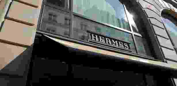 Fachada da Hermès em Paris, na França - ERIC PIERMONT/AFP