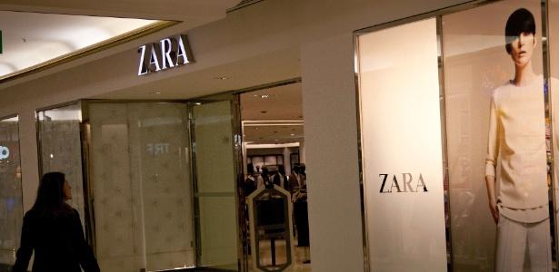 Fachada da Zara no shopping Iguatemi, em São Paulo - AFP