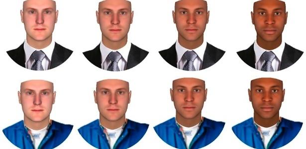 Roupas alteram maneira como pessoas percebem cor da pele, diz estudo  - Divulgação/Tufts University