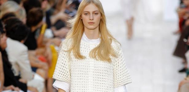 Modelo desfila look da Chloé em Paris - Benoit Tessier/Reuters