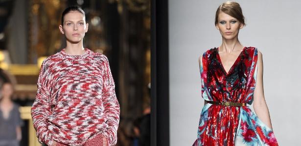 Montagem conforto x glamour; desfiles da semana de moda de Paris - Montagem/UOL