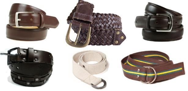 Entre os modelos de cintos, estão os formais, esportivos e casuais  - Montagem/UOL