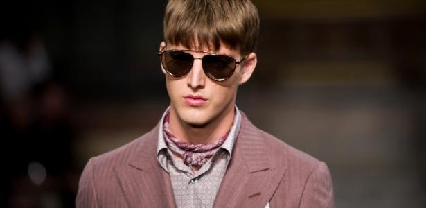 Modelo durante desfile da Hardy Amies na Semana de moda de Londres (21.09.2011) - Getty Images