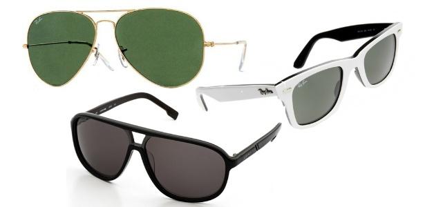 """Óculos nos modelos aviador e """"wayfarer"""" (com armação branca) são clássicos que ganham toques contemporâneos para o Verão 2011/2012 - Divulgação"""