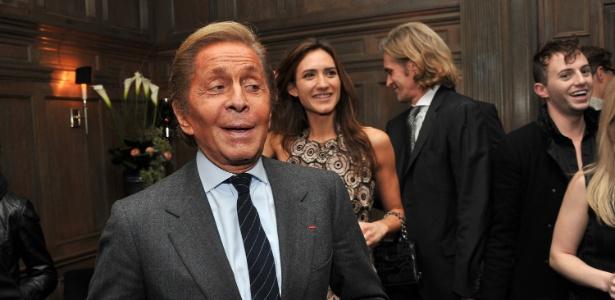 Valentino vai à festa realizada no Cinema Society & Piaget, em Nova York (04.12.2011) - Getty Images