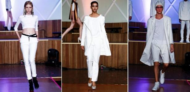 Peças em tons de branco desfiladas no primeiro dia da Casa de Criadores Inverno 2012 (12/12/2011) - Alexandre Schneider/UOL