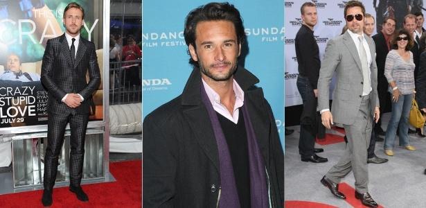 A lista dos famosos mais elegantes do ano inclui nomes como Ryan Gosling, Rodrigo Santoro e Brad Pitt - Getty Images
