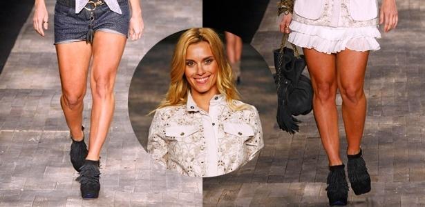 Pernas marombadas de Carolina Dieckmann chamaram a atenção negativamente da plateia da TNG - Alexandre Schneider/UOL