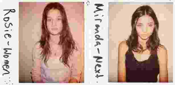 """As tops Rosie Huntington-Whiteley, hoje atriz e considerada a mulher mais sexy do mundo e Miranda Kerr, que fez grande sucesso como """"angel"""" da Victoria""""s Secret - Douglas Perrett/Divulgação"""