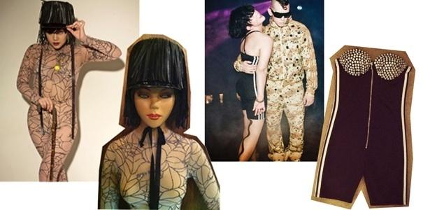 Lovefoxx vende seu acervo no brechó B. Luxo. São cerca de 100 peças, entre elas o macacão e chapéu usado pela cantora em shows e o macaquinho tomara-que-caia Jeremy Scott - Divulgação