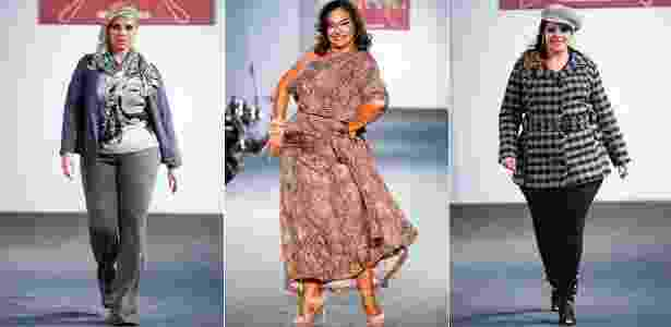 O Fashion Weekend Plus Size teve presença da atriz Solange Couto (centro) em desfila para  a temporada Inverno 2012 (11/02/2012) - Alexandre Schneider/UOL