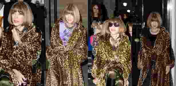 Editora de moda, Anna Wintour repete o mesmo casaco quatro vezes em sete dias - Getty Images