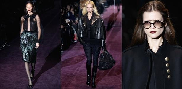 """""""É o romantismo moderno, o glamour dark"""", diz Frida Giannini, diretora criativa da Gucci, sobre nova coleção"""