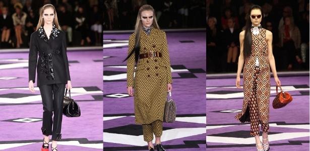 Looks da Prada apresentados em Milão para o Inverno 2012 - Getty Images