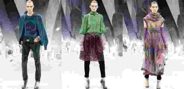Looks da Chanel para o Inverno 2012, apresentados durante a semana de moda de Paris. A grife é uma das principais da programação - Folhapress