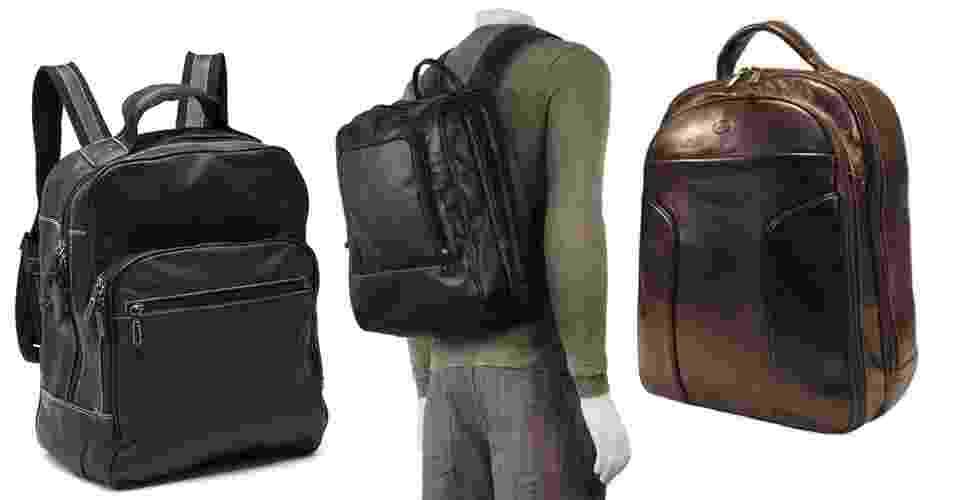 As mochilas de couro são as melhores opções para homens que usam terno e gravata e que não gostam de usar pastas executivas e bolsas tipo carteiro - Divulgação